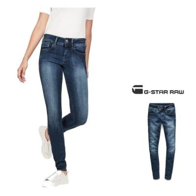 G-STAR RAW(ジースターロウ)Lynn Super Skinny Jeans スキニージーンズ color:DK AGED(ブルー)