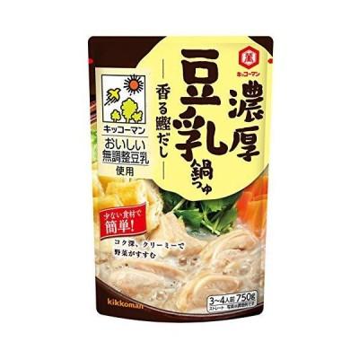 キッコーマン食品 濃厚豆乳鍋つゆ 香る鰹だし 750g ×4個