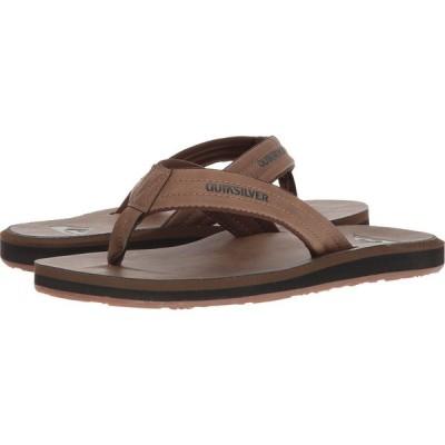 クイックシルバー Quiksilver メンズ ビーチサンダル シューズ・靴 Carver Nubuck Tan Solid
