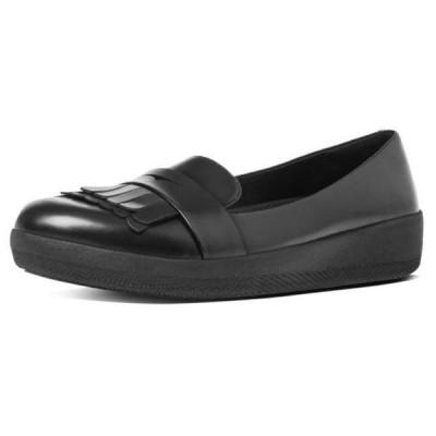 フィットフロップ レディース レディース用シューズ バレエパンプス fitflop fringey-sneakerloafer-leather