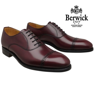 【在庫限りセール】バーウィック 靴 ストレートチップ 3577 ボルドー レザーソール Berwick1707