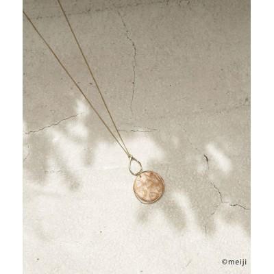 ロペピクニックパサージュ/【アポロ my style×ロペピクニック】マーブルモチーフツイストメタルネックレス/ベージュ/F