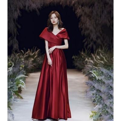 パーティードレス 安い 可愛い 結婚式 披露宴 花嫁 ウエディングドレス ブライズメイド イブニングドレス ロング