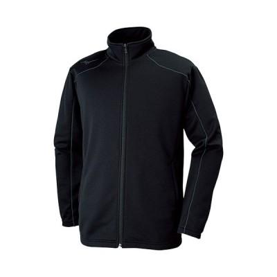 ミズノ(MIZUNO) メンズ レディース ウォームアップジャケット ブラック×キャスチャコール 32MC9125 09 ジャージ トレーニングウェア スポーツウェア