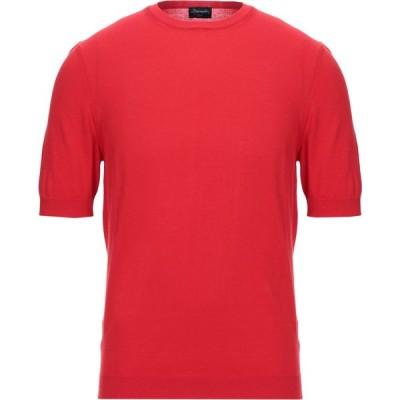 ドルモア DRUMOHR メンズ ニット・セーター トップス sweater Red