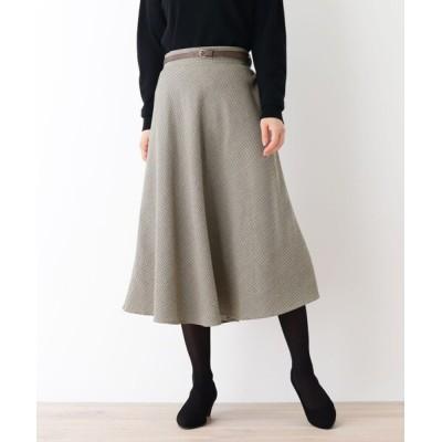 WORLD ONLINE STORE SELECT / 【WEB限定LLサイズあり】【ベルト付き】チェックスカート WOMEN スカート > スカート