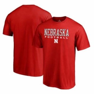 Fanatics Branded ファナティクス ブランド スポーツ用品  Fanatics Branded Nebraska Cornhuskers Scarlet True Sport Football T-Shirt