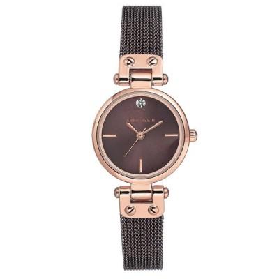 アンクライン 腕時計 アクセサリー レディース Women's Diamond-Accent Brown Stainless Steel Mesh Bracelet Watch 26mm Brown