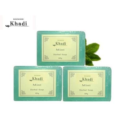 カーディ ミント ハーバルソープ 3個Set Rockside KHADI MINT SOAP