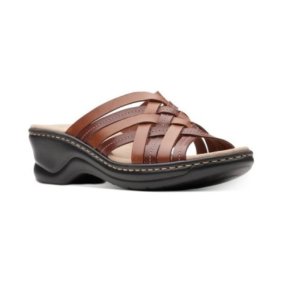 クラークス サンダル シューズ レディース Collection Women's Lexi Selina Flat Sandals Mahogony Leather
