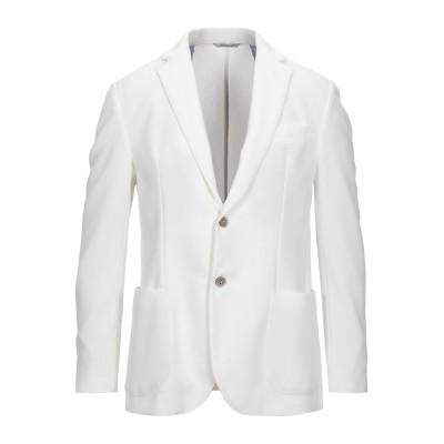 DOUBLE EIGHT テーラードジャケット ホワイト 50 ポリエステル 95% / ポリウレタン 5% テーラードジャケット