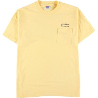 ヘインズ Hanes ワンポイントロゴポケットTシャツ メンズL /eaa151897