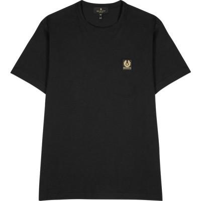 ベルスタッフ Belstaff メンズ Tシャツ トップス Black Logo Cotton T-Shirt Black