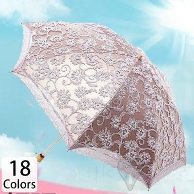 傘 レディース 可愛い 晴雨兼用 耐風 折りたたみ傘 折り畳み傘 ジャンプ おしゃれ 軽量 刺繍 フラワー 華やか 総柄 光沢 エレガント 二折 三折 爽やか