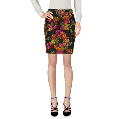 ブルマリン BLUMARINE ひざ丈スカート ブラック 42 ポリエステル 69% / シルク 31% ひざ丈スカート