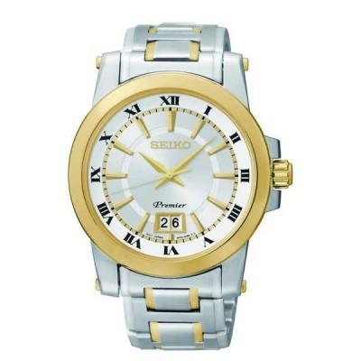 腕時計 セイコー Seiko メンズ SUR016 'Premier Perpetual カレンダー クォーツ ' ステンレス スチール 腕時計