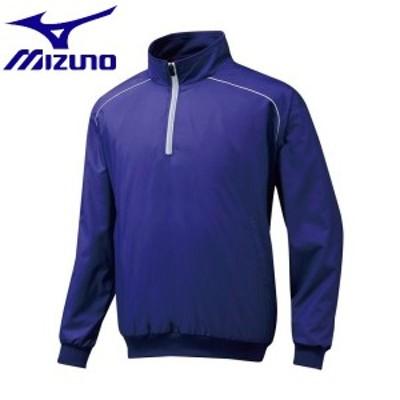 ◆◆ <ミズノ> MIZUNO ハーフZIPジャケット[ジュニア] 12JE5V45 (16:パステルネイビー)