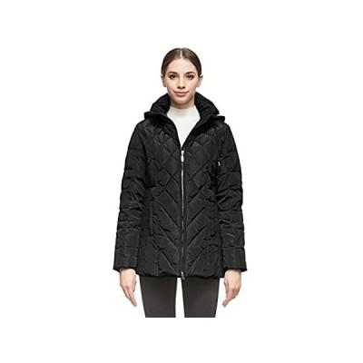 Orolay レディース 厚手パファーダウンジャケット フード付きコート US サイズ: Small カラー: ブラック