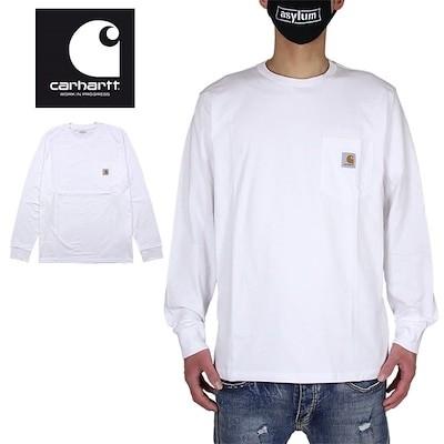カーハート WIP ロンT CARHARTT WIP Tシャツ 長袖Tシャツ メンズ レディース ブランド 大きいサイズ おしゃれ おすすめ L/S POCKET T-SHIRT I022094 ホワ