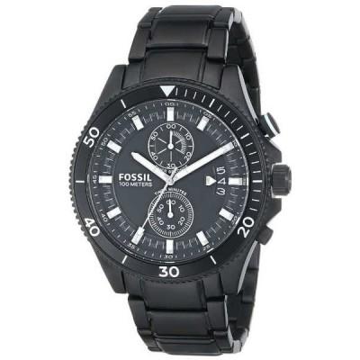 腕時計 フォッシル Fossil CH2936 メンズ Wakefield ブラック ステンレス スチール ブラック ダイヤル クロノグラフ 腕時計