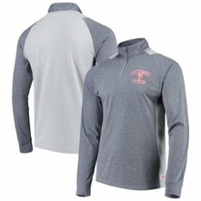 Stitches スティッチ スポーツ用品  Stitches Minnesota Twins Heathered Navy/Gray Raglan Sleeve Quarter-Zip Pullover Jacket