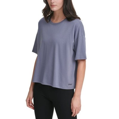 ダナ キャラン ニューヨーク レディース Tシャツ トップス Cropped T-Shirt