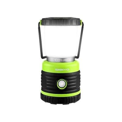 SHINYO LEDランタン キャンプランタン 超高輝度1000ルーメン 電池式 昼白色と電球色切替 4つ点灯モード 無段階調光調色 (黄緑)