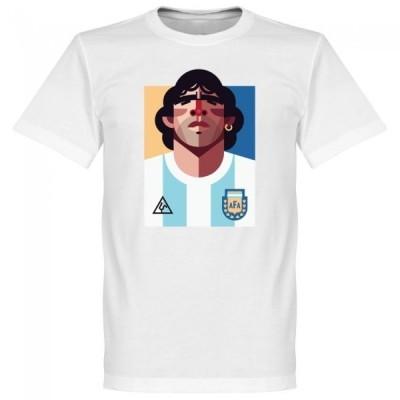 アルゼンチン代表 マラドーナ Tシャツ SOCCER プレイメーカー ホワイト