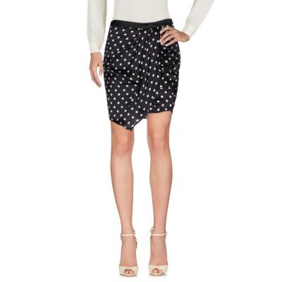 リュー ジョー LIU •JO ミニスカート ブラック 40 シルク 100% ミニスカート