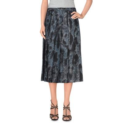 コム デ ギャルソン・シャツ COMME des GARÇONS 7分丈スカート ブラック M ポリエステル 100% 7分丈スカート