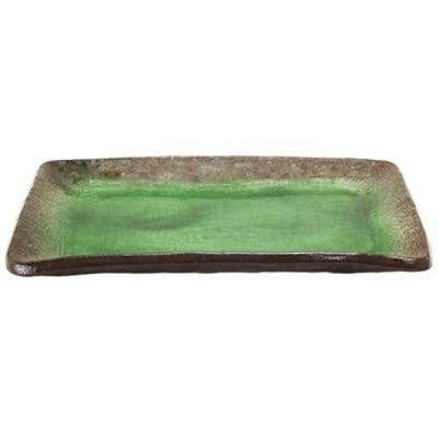 長角皿 和食器 / (強)伊賀ヒスイ(初山)7.0長角皿 寸法: 21 x 14 x H2cm 460g