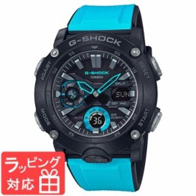 カシオ CASIO ジーショック G-SHOCK カーボンコアガード アナデジ ブルー ブラック メンズ 腕時計 国内正規品 GA-2000-1A2JF GA-2000-1A2