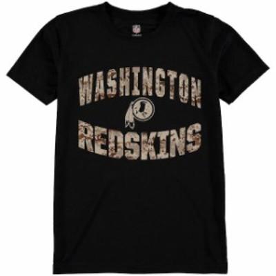Outerstuff アウタースタッフ スポーツ用品  Washington Redskins Youth Black Camo Dri-Tek Synthetic T-Shirt