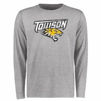 Fanatics Branded ファナティクス ブランド スポーツ用品  Towson Tigers Ash Big & Tall Classic Primary Long Sleeve T-Shirt