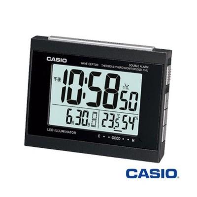カシオ 電波 置き時計 温度計+湿度計付き 710J (ブラック) 2011年モデル
