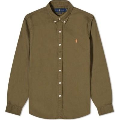 ラルフ ローレン Polo Ralph Lauren メンズ シャツ トップス Button Down Garment Dyed Oxford Shirt Defender Green