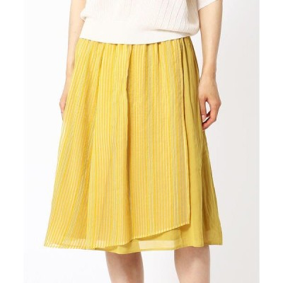 COMME CA / コムサ シースルーストライプ スカート