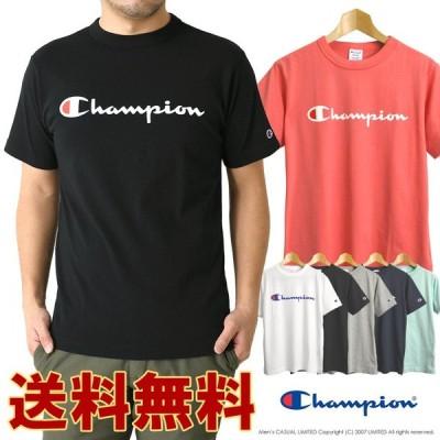 champion チャンピオン ベーシック ロゴプリント 半袖 Tシャツ メンズ カジュアル スポーツ ブランド 正規代理店 送料無料 通販A1