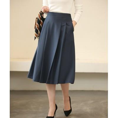 SAISON DE PAPILLON / フロントタックフレアスカート WOMEN スカート > スカート
