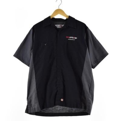レッドキャップ Red kap 半袖 ワークシャツ メンズL /eaa153686
