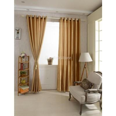 多色 100x200cm/100x250cm 現代風 簡約 ウィンドウカーテン パネルシェードカーテン ジャカード 部屋 寝間 装飾 - ブラウン, 100x250cm