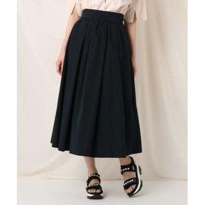 Couture Brooch/クチュールブローチ タックリボンタイプライターフレアスカート ネイビー(093) 38(M)
