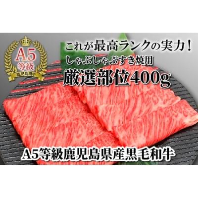 A5等級鹿児島県産黒毛和牛しゃぶしゃぶすき焼用厳選部位400g