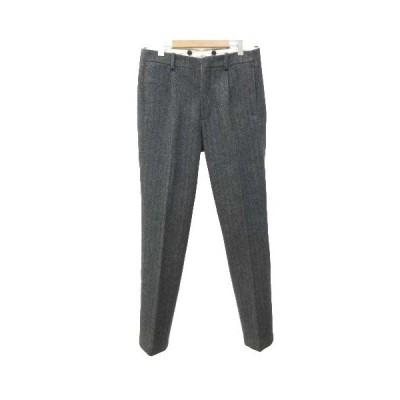 【中古】オールドジョー OLDJOE トラウザー gents trouser カシミヤ混 ウール パンツ ヘリンボーン 32 約Sサイズ グレー BTL S032106 メンズ 【ベクトル 古着】