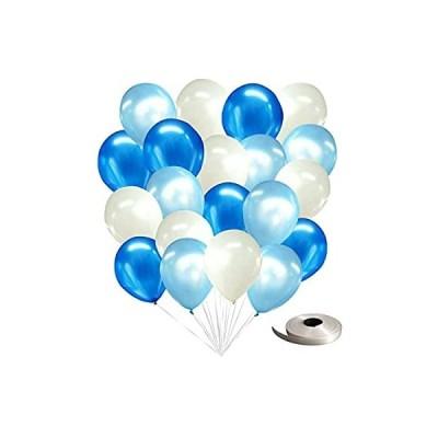 frontier 風船 パールバルーン デコレーション 100個セット 誕生日 飾りつけ おしゃれ (パールバルーン100個入り(ブルー×ライトブルー