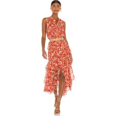 ミサロサンゼルス MISA Los Angeles レディース ワンピース ワンピース・ドレス Ilona Dress Mandarin Fan