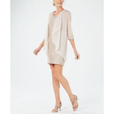 アールアンドエムリチャーズ レディース ワンピース トップス Embellished Lace Sheath Dress & Jacket