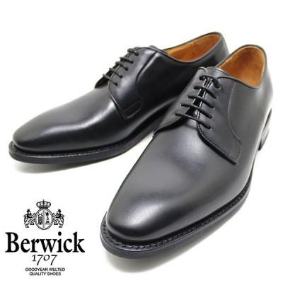 Berwick バーウィック 3680 外羽プレーントゥシューズ ダイナイトソール ボックスカーフ BLACK ビジネス/ドレス/紐靴/革靴/メンズ
