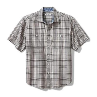 トッミーバハマ メンズ シャツ トップス Sahara Sun Fade Short-Sleeve Woven Shirt Raincloud