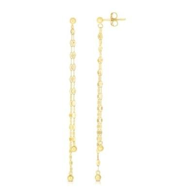 スフラミラノ レディース ピアス&イヤリング アクセサリー 14K Yellow Gold Chain Drop Earrings YELLOW GOLD